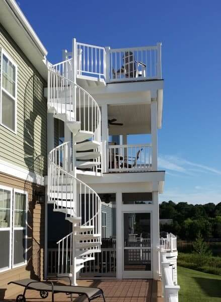 Multi Level Deck. This First Deck Design Idea Features A Spiral Stair That  ...